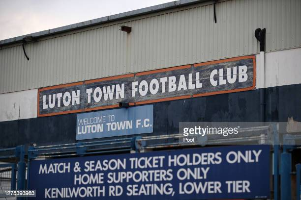 General view outside the stadium prior to the Carabao Cup Third Round match between Luton Town and Manchester United at Kenilworth Road on September...