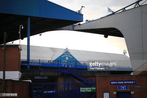 General view outside the stadium prior to the FA Cup Fifth Round match between Sheffield Wednesday and Manchester City at Hillsborough on March 04...
