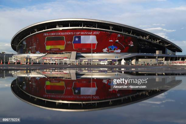 General view outside the stadium prior to the FIFA Confederations Cup Russia 2017 Group B match between Germany and Chile at Kazan Arena on June 22...