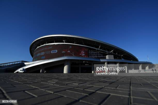 General view outside the stadium prior to the FIFA Confederations Cup Russia 2017 SemiFinal between Portugal and Chile at Kazan Arena on June 28 2017...