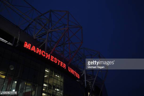 General view outside the stadium prior to the Group H match of the UEFA Champions League between Manchester United and Juventus at Old Trafford on...