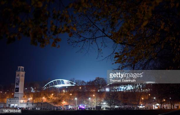 General view outside the stadium prior to the International Friendly match between Germany and Russia at Red Bull Arena on November 15, 2018 in...