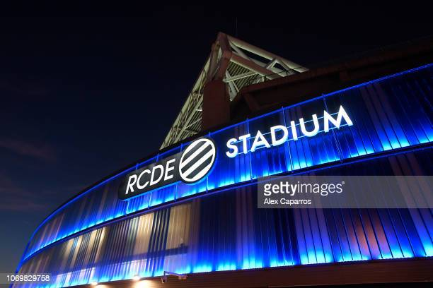 General view outside the stadium prior to the La Liga match between RCD Espanyol and FC Barcelona at RCDE Stadium on December 8 2018 in Barcelona...