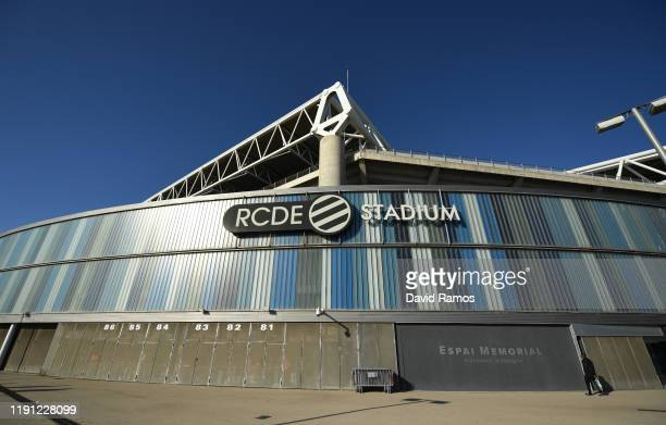 General view outside the stadium prior to the La Liga match between RCD Espanyol and CA Osasuna at RCDE Stadium on December 01 2019 in Barcelona Spain