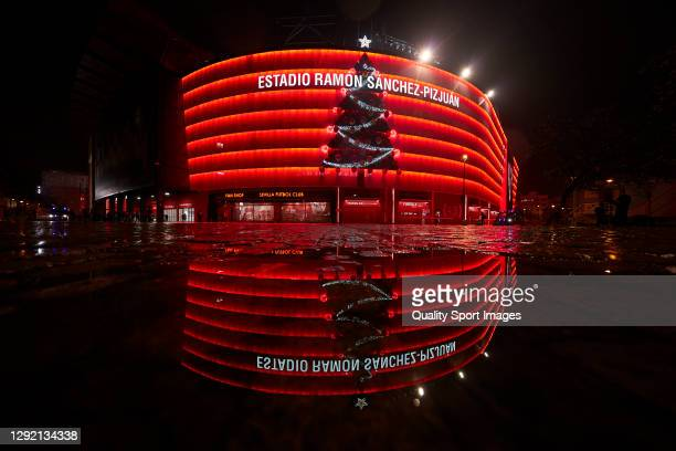 General view outside the stadium prior to the La Liga Santander match between Sevilla FC and Real Valladolid CF at Estadio Ramon Sanchez Pizjuan on...