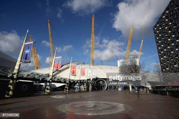General view outside the stadium prior to the Nitto ATP World Tour Finals at O2 Arena on November 10 2017 in London England