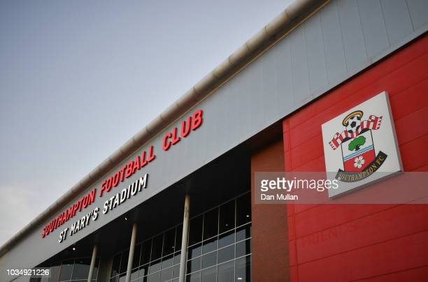 General view outside the stadium prior to the Premier League match between Southampton and Brighton & Hove Albion at St Mary's Stadium on September...