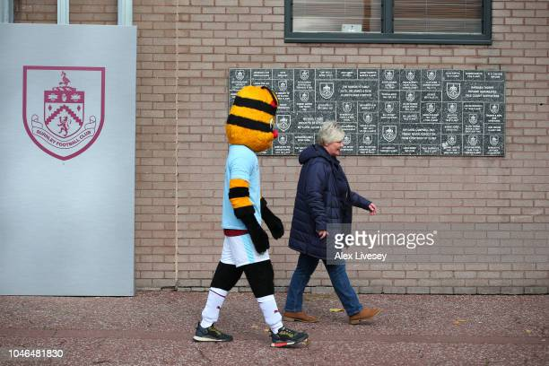 General view outside the stadium prior to the Premier League match between Burnley FC and Huddersfield Town at Turf Moor on October 6 2018 in Burnley...