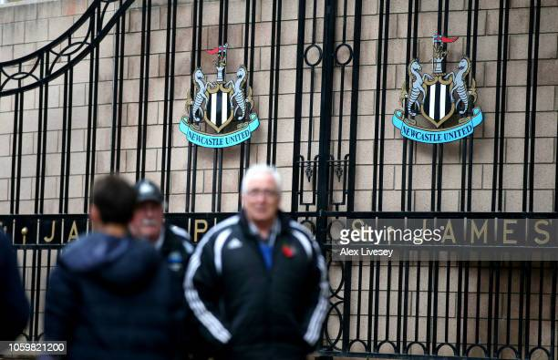General view outside the stadium prior to the Premier League match between Newcastle United and AFC Bournemouth at St James Park on November 10 2018...