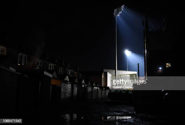 A general view outside the stadium prior to the Premier League match between Burnley FC and Newcastle United at Turf Moor on November 26 2018 in...