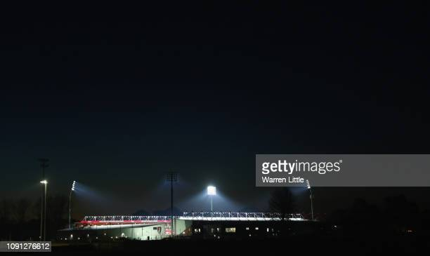 General view outside the stadium prior to the Premier League match between AFC Bournemouth and Chelsea FC at Vitality Stadium on January 29 2019 in...