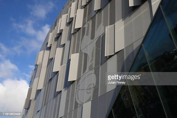 General view outside the stadium prior to the Premier League match between Tottenham Hotspur and AFC Bournemouth at Tottenham Hotspur Stadium on...