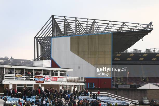 General view outside the stadium prior to the Premier League match between Burnley FC and Aston Villa at Turf Moor on January 01, 2020 in Burnley,...