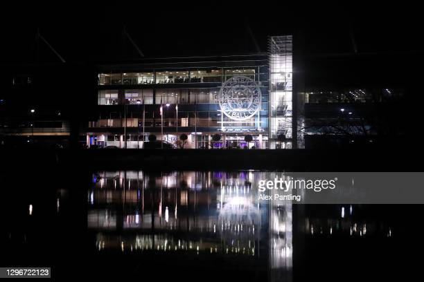 General view outside the stadium prior to the Premier League match between Leicester City and Southampton at The King Power Stadium on January 16,...