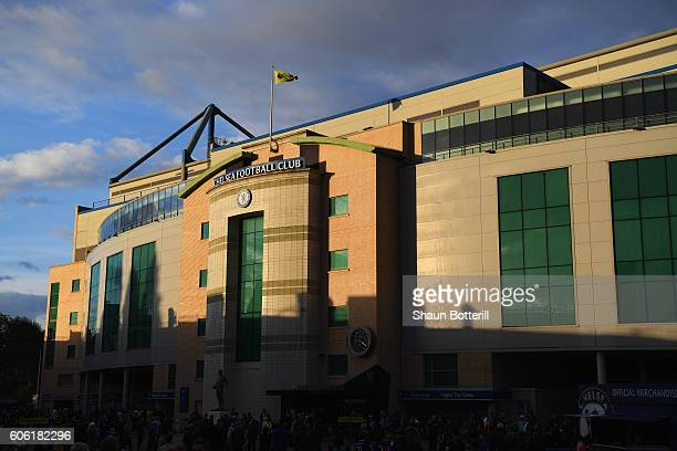 A general view outside the stadium prior to the Premier League match between Chelsea and Liverpool at Stamford Bridge on September 16 2016 in London...