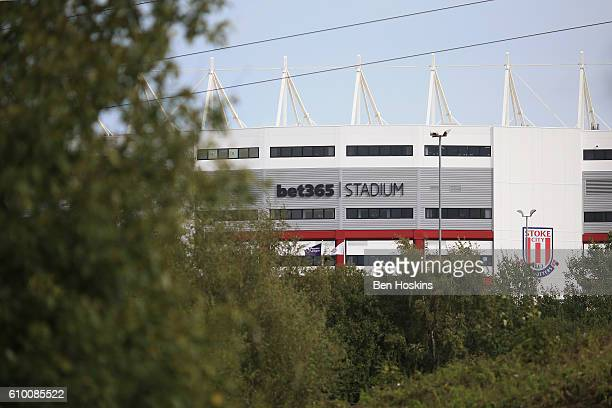 A general view outside the stadium prior to the Premier League match between Stoke City and West Bromwich Albion at the Bet365 Stadium on September...