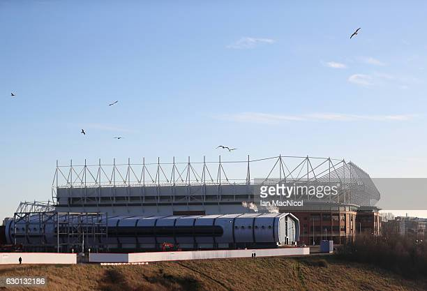 General view outside the stadium prior to the Premier League match between Sunderland and Watford at Stadium of Light on December 17 2016 in...
