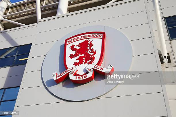 General view outside the stadium prior to the Premier League match between Middlesbrough and Swansea City at Riverside Stadium on December 17 2016 in...