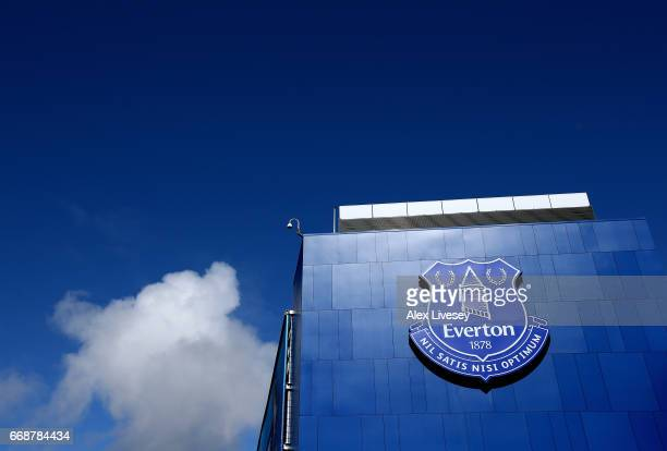 General view outside the stadium prior to the Premier League match between Everton and Burnley at Goodison Park on April 15 2017 in Liverpool England