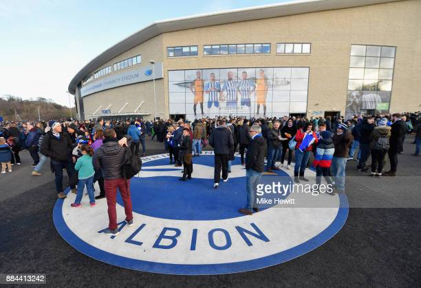 General view outside the stadium prior to the Premier League match between Brighton and Hove Albion and Liverpool at Amex Stadium on December 2 2017...