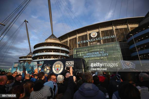 General view outside the stadium prior to the Premier League match between Manchester City and West Ham United at Etihad Stadium on December 3 2017...