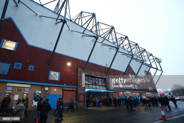 General view outside the stadium prior to the Premier League match between Burnley and Watford at Turf Moor on December 9 2017 in Burnley England