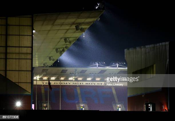 General view outside the stadium prior to the Premier League match between Burnley and Stoke City at Turf Moor on December 12 2017 in Burnley England