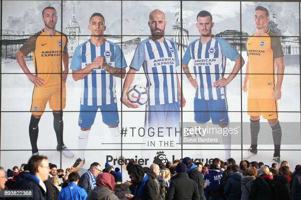General view outside the stadium prior to the Premier League match between Brighton and Hove Albion and Burnley at Amex Stadium on December 16 2017...