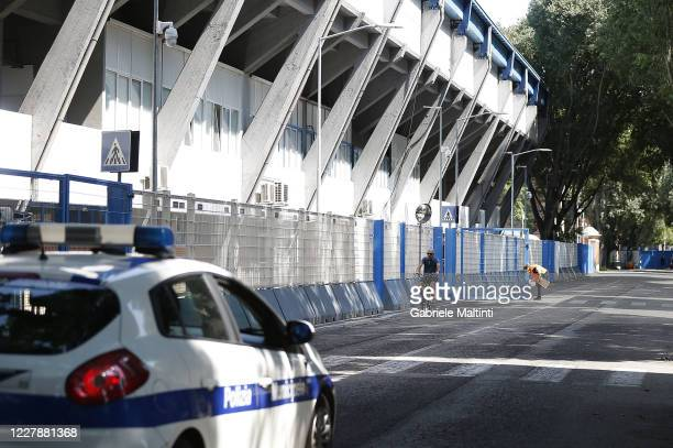 General view outside the stadium prior to the Serie A match between SPAL and ACF Fiorentina at Stadio Paolo Mazza on August 2, 2020 in Ferrara, Italy.