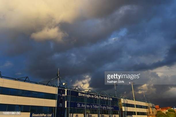General view outside the stadium prior to the Sky Bet Championship match between Birmingham City and West Bromwich Albion at St Andrew's Trillion...