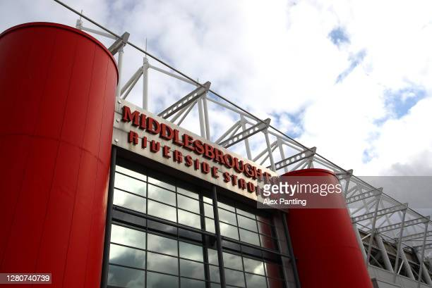 A general view outside the stadium prior to the Sky Bet Championship match between Middlesbrough and Reading at Riverside Stadium on October 17 2020...
