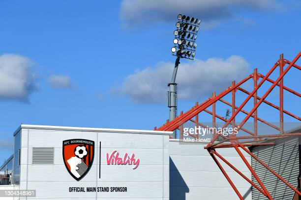 General view outside the stadium prior to the Sky Bet Championship match between AFC Bournemouth and Watford at Vitality Stadium on February 27, 2021...