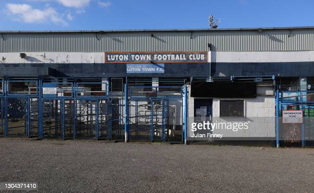 General view outside the stadium prior to the Sky Bet Championship match between Luton Town and Sheffield Wednesday at Kenilworth Road on February...