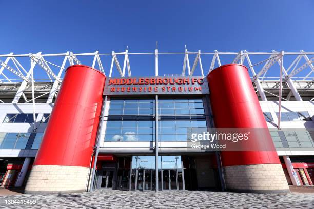 General view outside the stadium prior to the Sky Bet Championship match between Middlesbrough and Cardiff City at Riverside Stadium on February 27,...