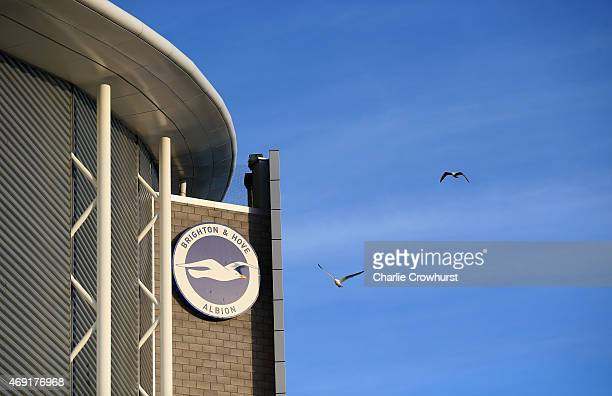 A general view outside the stadium prior to the Sky Bet Championship match between Brighton Hove Albion and AFC Bournemouth at Amex Stadium on April...
