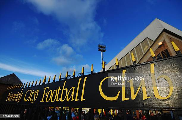 A general view outside the stadium prior to the Sky Bet Championship match between Norwich City and Middlesbrough at Carrow Road on April 17 2015 in...