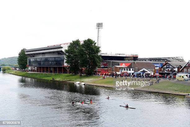 General view outside the stadium prior to the Sky Bet Championship match between Nottingham Forest and Ipswich Town at City Ground on May 7 2017 in...