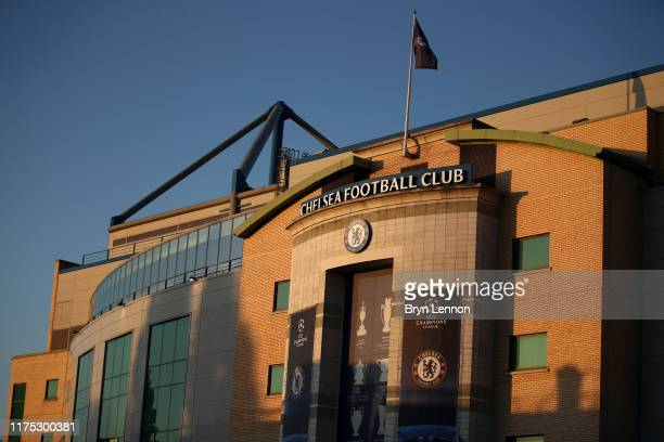 General view outside the stadium prior to the UEFA Champions League group H match between Chelsea FC and Valencia CF at Stamford Bridge on September...