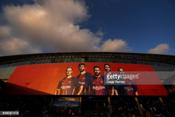General view outside the stadium prior to the UEFA Champions League Group D match between FC Barcelona and Juventus at Camp Nou on September 12 2017...