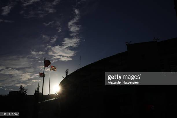 A general view outside the stadium prior to the UEFA Champions League Round of 16 Second Leg match Besiktas and Bayern Muenchen at Vodafone Park on...