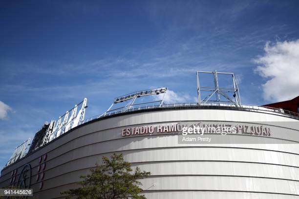 General view outside the stadium prior to the UEFA Champions League Quarter Final Leg One match between Sevilla FC and Bayern Muenchen at Estadio...