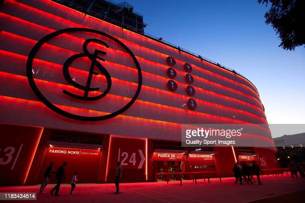 General view outside the stadium prior to the UEFA Europa League group A match between Sevilla FC and F91 Dudelange at Estadio Ramon Sanchez Pizjuan...