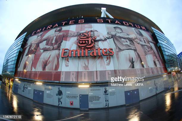 A general view outside the stadium prior to the UEFA Europa League Group B stage match between Arsenal FC and Dundalk FC at Emirates Stadium on...