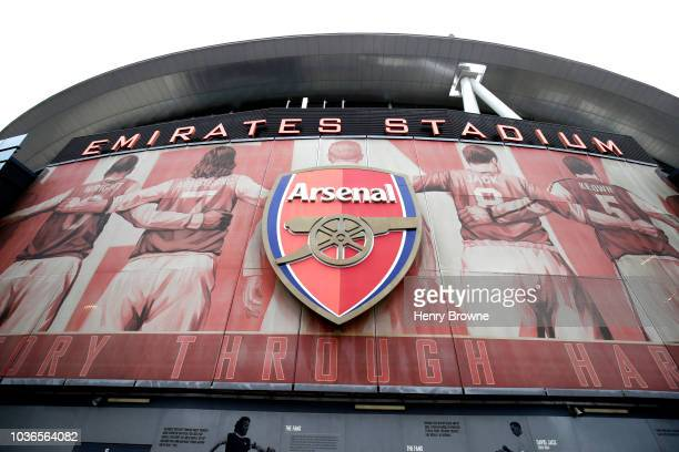 General view outside the stadium prior to the UEFA Europa League Group E match between Arsenal and Vorskla Poltava at Emirates Stadium on September...