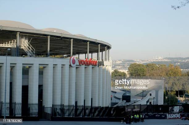 General view outside the stadium prior to the UEFA Europa League group K match between Besiktas and Wolverhampton Wanderers at Vodafone Park on...