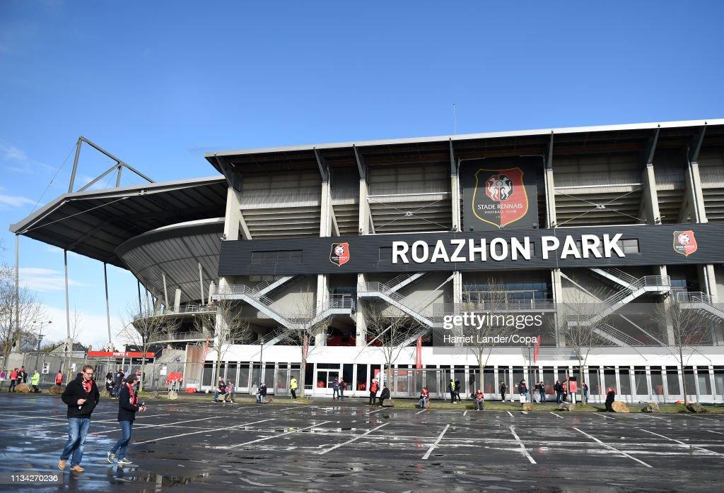 Stade Rennais v Arsenal - UEFA Europa League Round of 16: First Leg : News Photo