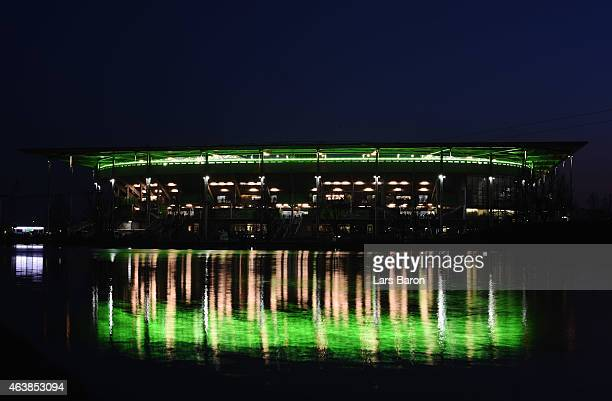 A general view outside the stadium prior to the UEFA Europa League Round of 32 first leg match between VfL Wolfsburg and Sporting Clube de Portugal...