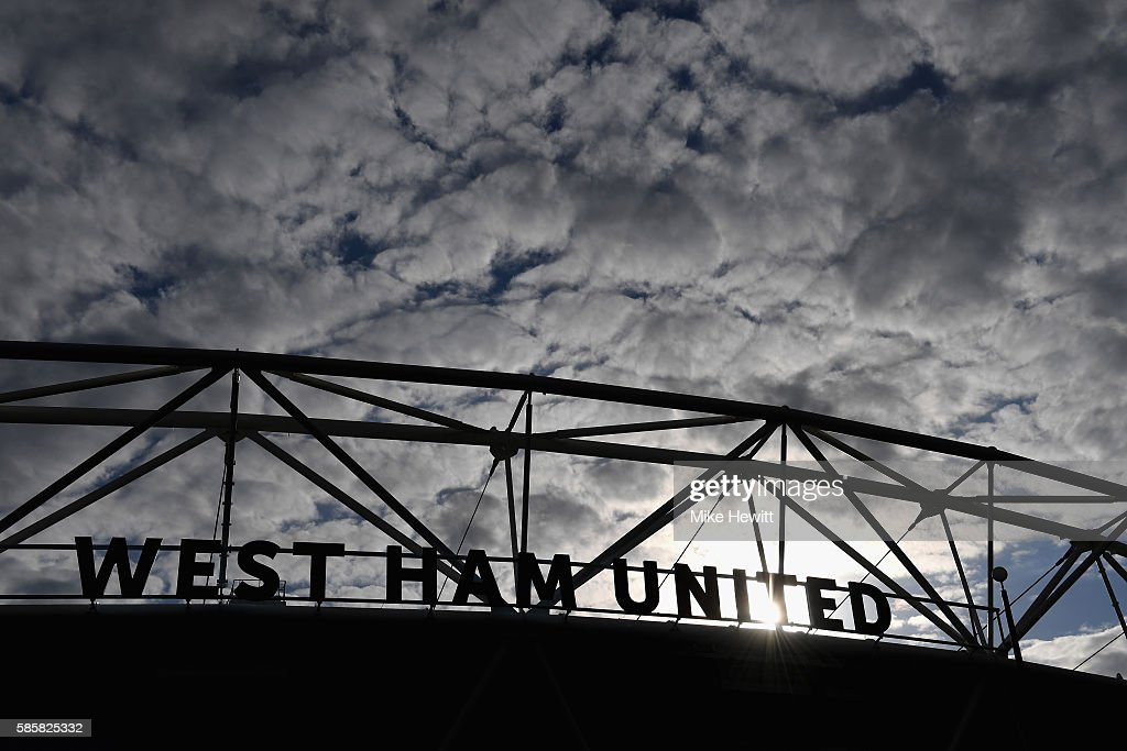 A general view outside the stadium prior to the UEFA Europa League Qualification round match between West Ham United and NK Domzale at London Stadium on August 4, 2016 in Stratford, England.