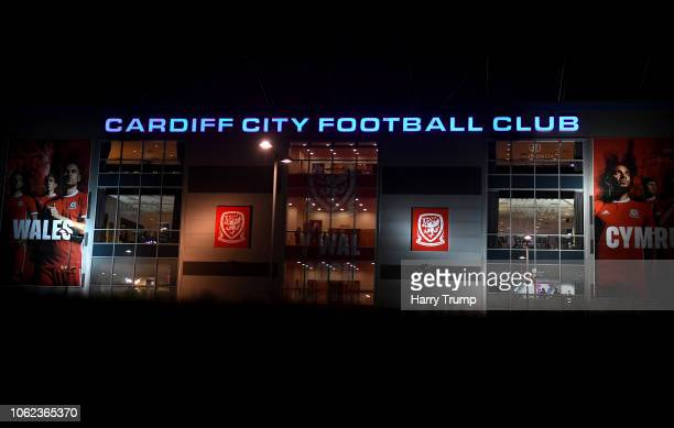 A general view outside the stadium prior to the UEFA Nations League Group B match between Wales and Denmark at Cardiff City Stadium on November 16...