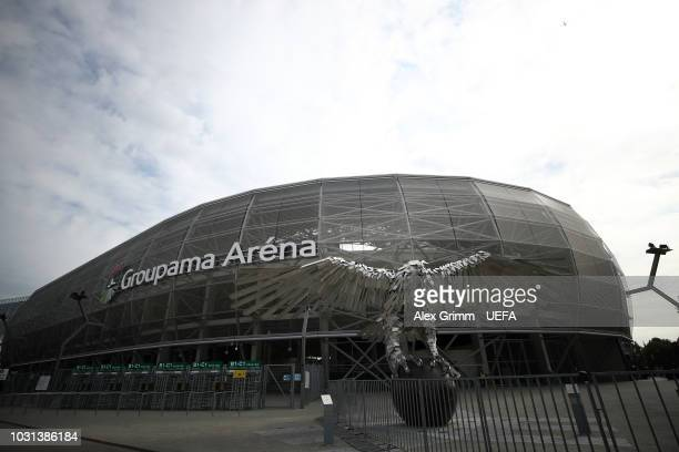 General view outside the stadium prior to the UEFA Nations League C Group two match between Hungary and Greece at Groupama Arena on September 11,...